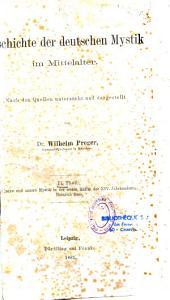 Geschichte der Deutsche Mystik im Mittelalter