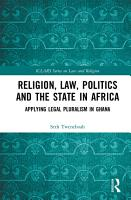 Religion  Law  Politics and the State in Africa PDF
