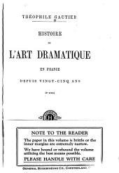 ... Histoire de l'art dramatique en France depuis vingt-cinq ans: (ler - 6me série)