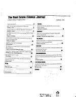 The Real Estate Finance Journal PDF