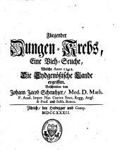Fliegender Zungen-Krebs: eine Vieh-Seuche, welche, Anno 1732, die eydgenössischen Lande ergriffen