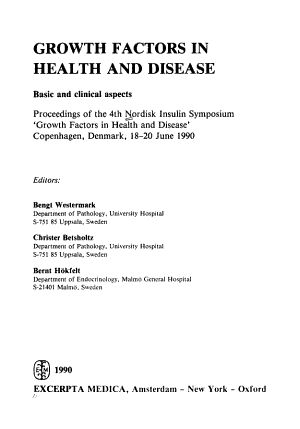 Growth Factors in Health and Disease PDF