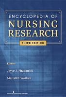 Encyclopedia of Nursing Research  Third Edition PDF