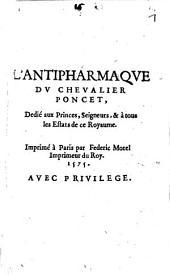 Lunettes de cristal de roche ... pour servir de contre poison à l'Antipharmaque du Chevalier Poncet