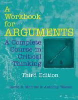 A Workbook for Arguments PDF