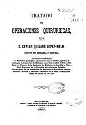 Tratado de operaciones quirúrgicas: Volumen 1