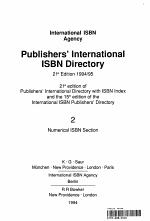 Publishers' International ISBN Directory/International ISBN Agency