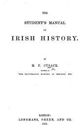 The Student's Manual of Irish History