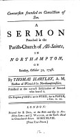 Conversion Founded on Conviction of Sin  A Sermon Preached in the Parish church of All Saints  in Northampton  on Sunday  October 30  1748  By Thomas Hartley      PDF