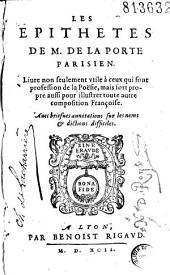 Les épithètes de M. de La Porte Parisien... [Vers par F. d'Amboise]