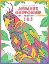 Livre de coloriage pour enfants Animaux griffonnés 1 & 2