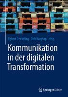 Kommunikation in der digitalen Transformation PDF