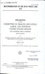 Reauthorization of the Ryan White Care Act