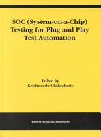 SOC  System on a Chip  Testing for Plug and Play Test Automation PDF