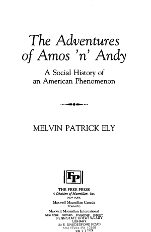 The Adventures of Amos  n  Andy PDF