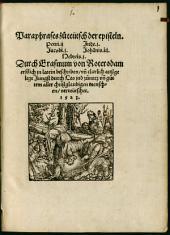 Paraphrases, zu teutsch der episteln Petri II, Jacobi I, Jude I, Johannis III, Hebreis I