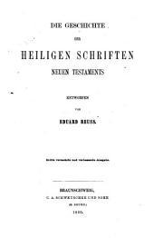 Die Geschichte der heiligen Schriften Neuen Testaments