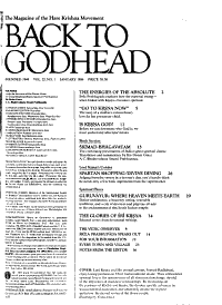 Back to Godhead PDF