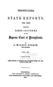 Pennsylvania State Reports Containing Cases Decided by the Supreme Court of Pennsylvania: Volume 92