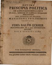 Optima principia politica ex libris sapientialibus proposita