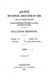 Bulletin - Société académique du Bas-Rhin pour le progrès des sciences, des lettres, des arts et de la vie économique