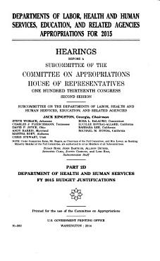Departments of Labor  Health and Human Services  Education  and Related Agencies Appropriations for 2015 PDF
