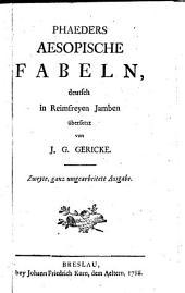 Phaedrus Aesops Fabeln deutsch