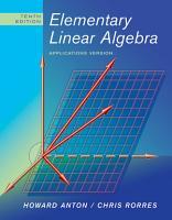Elementary Linear Algebra PDF