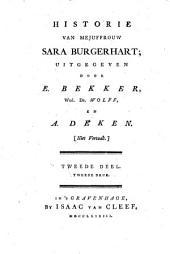 Historie van Mejuffrouw Sara Burgerhart: Deel 1