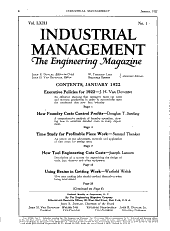 Factory and Industrial Management: Volume 63, Issue 1