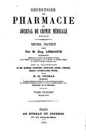 Répertoire de pharmacie: Volume10