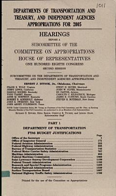 Departments of Transportation and Treasury  and independent agencies appropriations for 2005