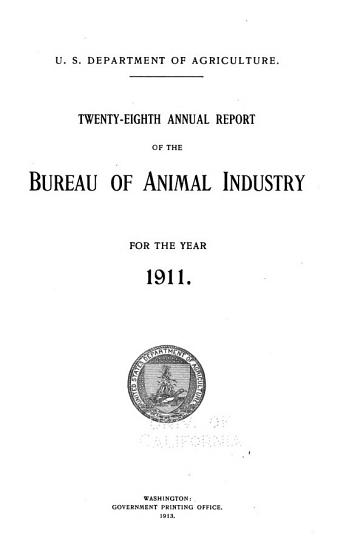 Annual Report of the Bureau of Animal Industry for the Year     PDF