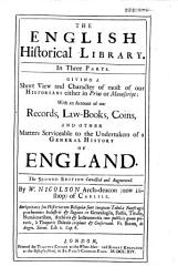 The English Historical Library Book PDF