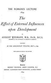 The Effect of External Influences Upon Development
