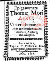 Epigrammata Thomae Mori...