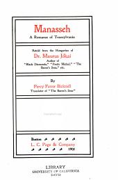 Manasseh: a romance of Transylvania