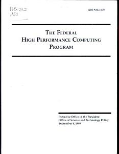 The Federal High Performance Computing Program