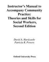 Instructor s Manual to Accompany Community Practice  Theories and Skills for Social Workers  2nd Ed PDF