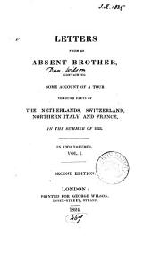 Letters from an absent brother [signed D.W.].