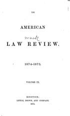 The American Law Review PDF