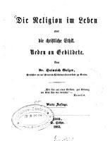Die Religion im Leben oder die christliche Ethik PDF
