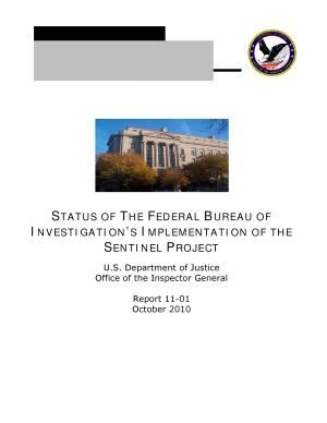 Status of the Federal Bureau of Investigation   s Implementation of the Sentinel Project