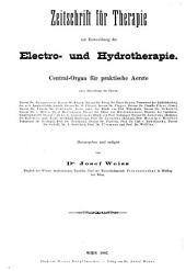 Zeitschrift für therapie: mit einbeziehung der electro- und hydrotherapie, Band 5