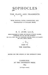 Plays and Fragments: Electra. 1894