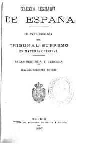 Sentencias del Tribunal Supremo en materia criminal: Volumen 2