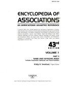 Encyclopedia of Associations V1 Index 43 Pt3