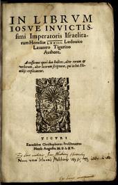 In Librvm Iosve Invictissimi Imperatoris Israelitarum Homiliae LXXIII