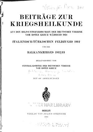 Beitr  ge zur Kriegsheilkunde PDF