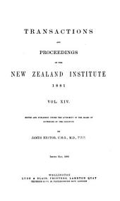 Transactions and Proceedings of the New Zealand Institute: Volume 14